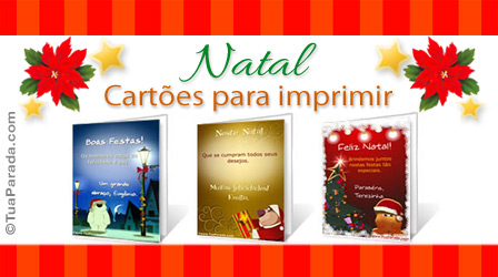 Cartões Cartões de Natal para imprimir