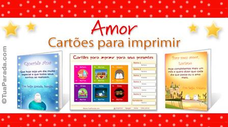 Cartões Cartões de amor para imprimir