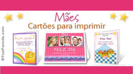 Cartões Cartões de Mães para imprimir