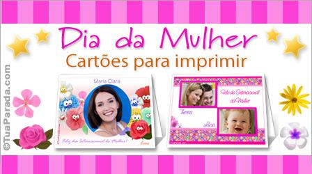 Cartões Dia da mulher