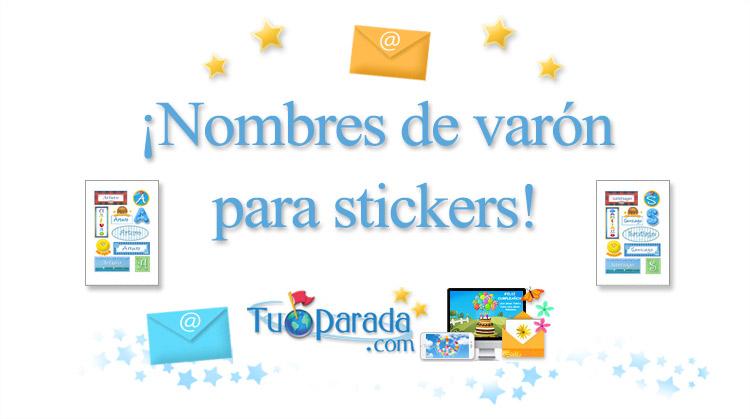 Tarjetas, postales: Nombres de hombre - Stickers