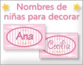 Tarjetas, postales: Nombres de niñas