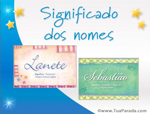 Cartões postais: Significado dos nomes