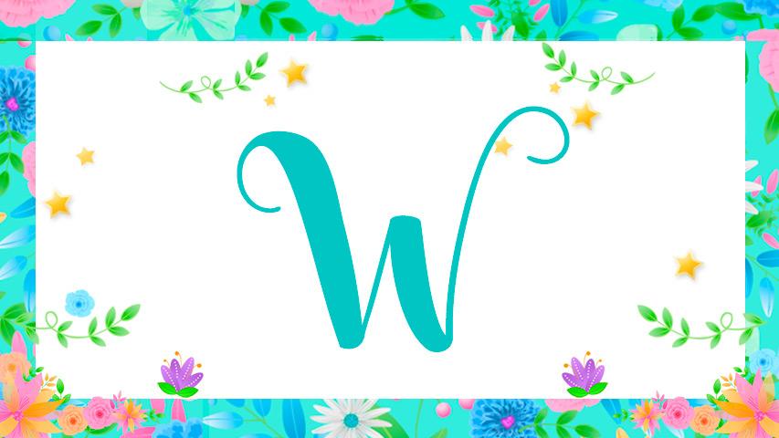 Nomes com W
