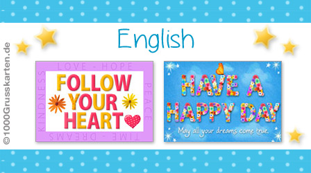 E-Cards: English