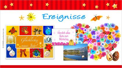 E-Cards: Ereignisse