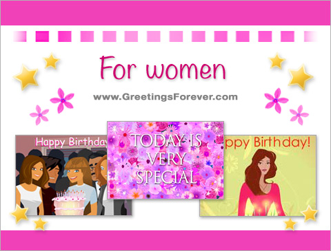 Birthday eCards for women ecards