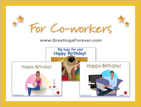 Birthday eCards for Co-workers ecards