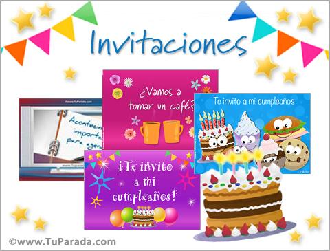 Tarjetas de Invitaciones para cumpleaños