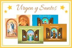Tarjetas de Virgen y Santos