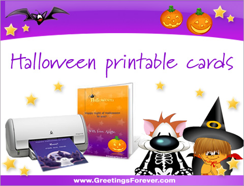 Ecards  Halloween printable cards