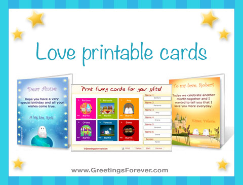 Ecards  Love printable cards