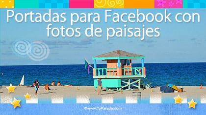 Tarjetas, postales: Fotos para portada de Facebook