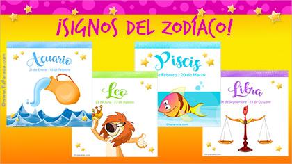 Tarjetas, postales: Zodíaco
