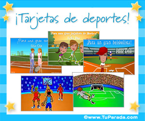 Tarjetas de Tu deporte favorito