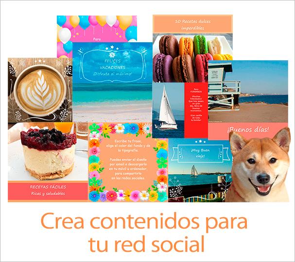Crea contenidos para tu red social
