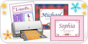 Send or print colorful cards with names.