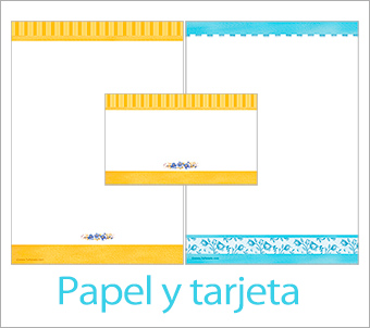 Tarjetas, postales: Tarjeta y papel carta
