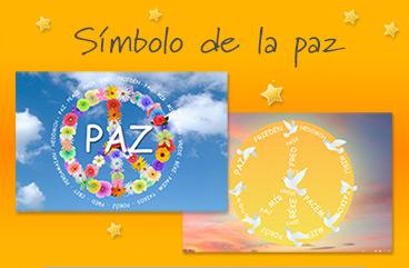 Tarjetas, postales: Símbolo de la paz