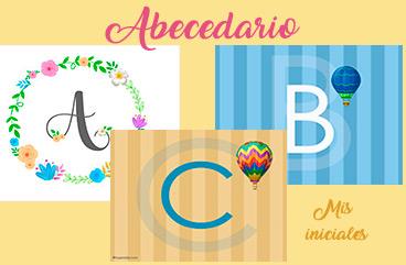 Tarjetas, postales: Abecedario