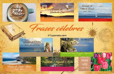 Tarjetas, postales: Frases célebres