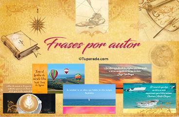 Tarjetas, postales: Frases por autor