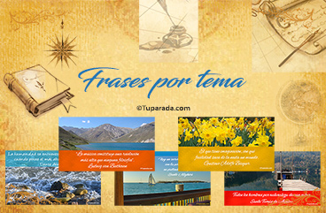 Tarjetas, postales: Frases por tema