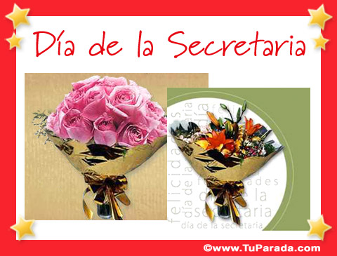 Tarjetas de  Día de la Secretaria