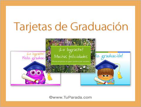Tarjetas De Graduación Postales De Feliz Graduación Para