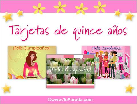 Tarjetas De Quince Años Postales De 15 Años Invitaciones
