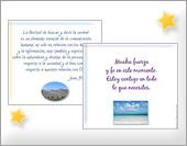 Tarjetas, postales: Mensaje espiritual