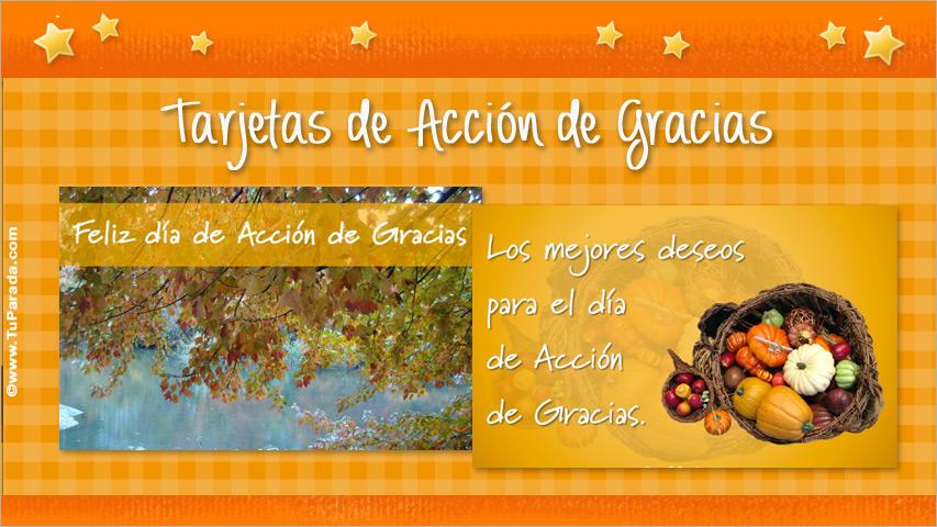 Tarjetas de Día de Acción de Gracias