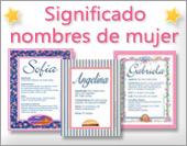 Tarjetas, postales: Significados Mujer