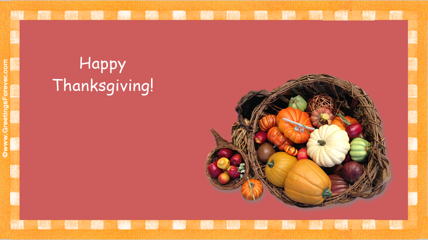 Ecards: Thanksgiving