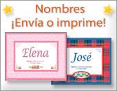 Tarjetas, postales: Nombres - Imágenes