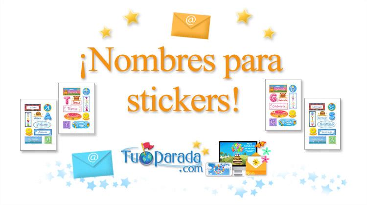 nombres para stickers con dise u00f1os coloridos  manualidades