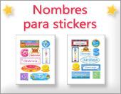 Tarjetas de Nombres - Stickers