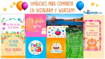 Tarjetas, postales: Imágenes para WhatsApp