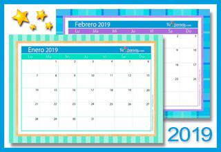 Tarjetas, postales: Calendario Deco 2019