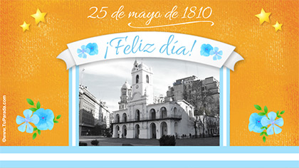 Tarjetas, postales: 25 de Mayo