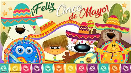 Tarjetas, postales: Cinco de Mayo