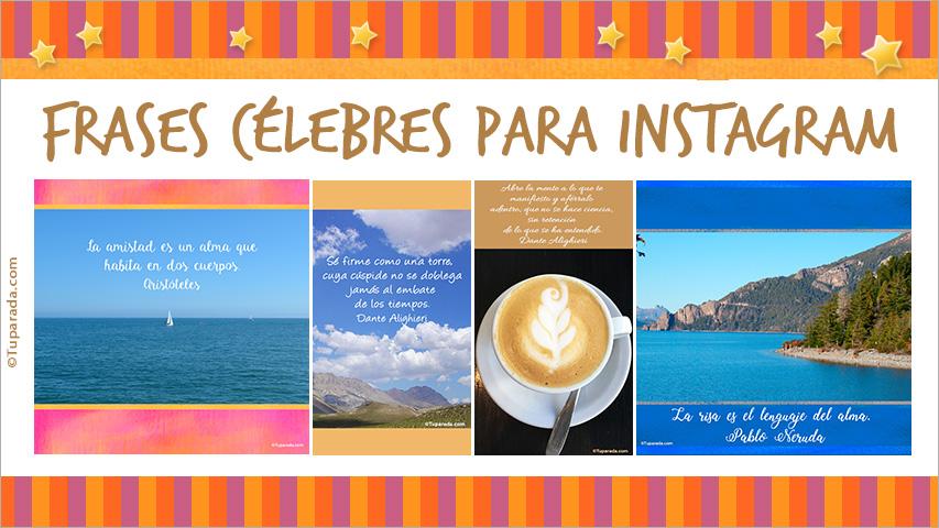 Tarjetas de  Frases célebres para Instagram