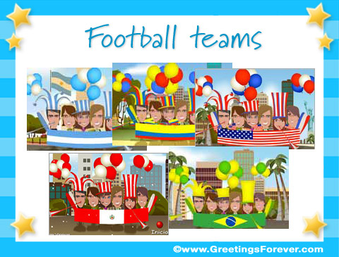 Football teams ecards