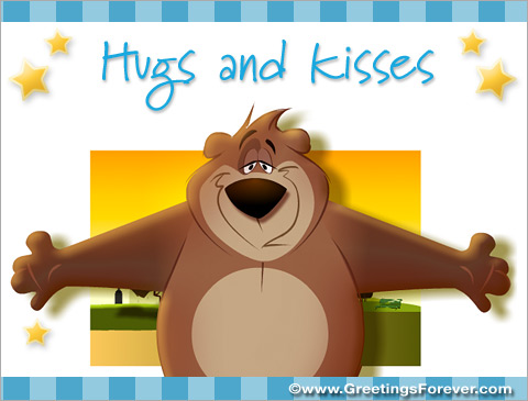 Hugs and kisses Ecards