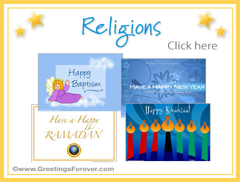 Ecards: Religions