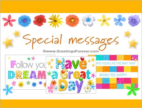 Special messages Ecards