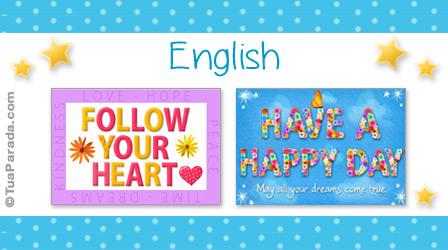 Cartões postais: English
