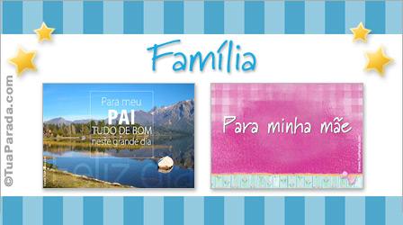 Cartões para a família