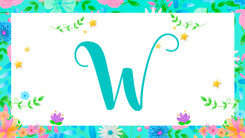 Names with W