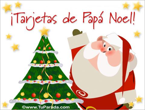 Tarjetas de Papá Noel